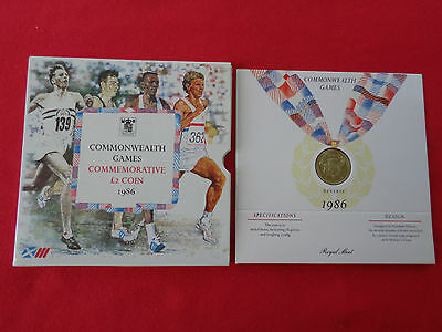 1986 Commonwealth Games Commemorative £2 Coin – Uncirculated