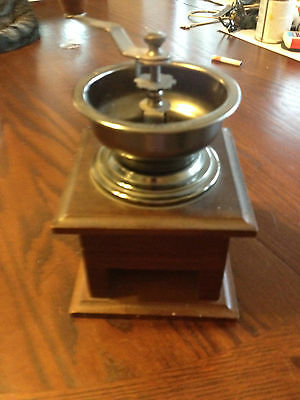 Vintage Wood Coffee Grinder For Display Only