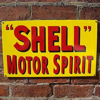 shell MOTOR SPIRIT enamel sign shell oil vitreous enamel advertising new VAC066