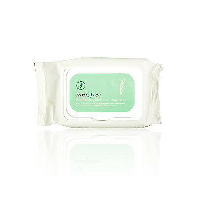 [INNISFREE] Green Barley Multi Cleansing Tissue - 50Sheets (New)