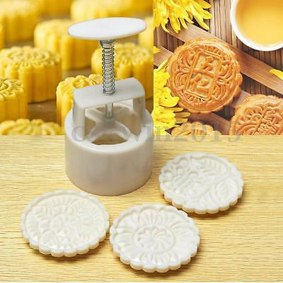 50g Mooncake DIY Mold Baking Tool Pastry Concave Flower Stamp Mould Homemade