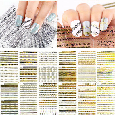 12 Sheets Mixed Flower 3D Nail Art Stickers Manicure Tips Decals Water Transfer