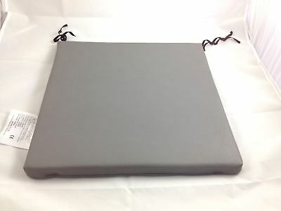 "16x16x1"" Vinyl Easy Clean Foam Wheelchair Cushion Waterproof in Grey"