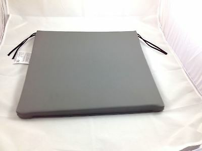 "18x17x1"" Vinyl Easy Clean Foam Wheelchair Cushion Waterproof in Grey"