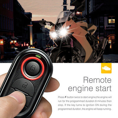 Steelmate 986E 1 Way Motorcycle Alarm System Remote Engine Start w/ Transmitter