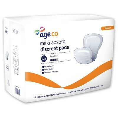 Age UK Discreet Shaped Pad for Women 1030ml Pack of 28