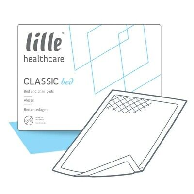 LILLE Healthcare Classic Bed Pads Regular Size 1 40 x 60cm (770ml) Pack of 35