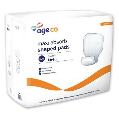 Age UK Large Shaped Pads Super Plus (2920ml) Pack of 20
