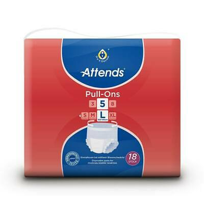 Attends Pull Ons 5 Plus - Large (100-140cm/39-55in) Pack of 18