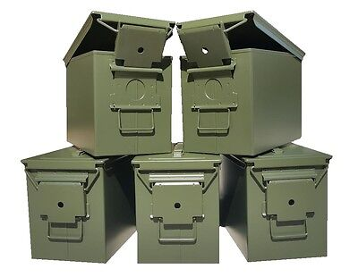 Blank 5 Cans! Brand New Mil-Spec Fat 50 Cal Pa108 Saw Box Empty Ammo Can Rare
