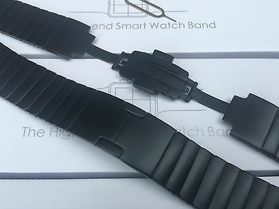 Stainless Steel 316L Link Bracelet Butterfly Lock Watch Strap For Apple Watch 42