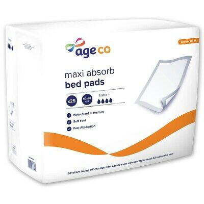 Age UK Maxi Absorb Bed Pads - Extra Plus (2090ml) 60x90cm - Pack of 25