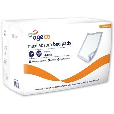 Age UK Maxi Absorb Bed Pads - Regular Plus (1170ml) 60x60cm - Pack of 30