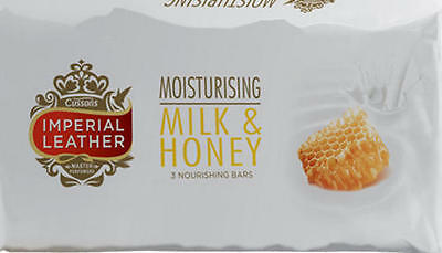 Imperial Leather Milk & Honey Bar Soap - Pack of 3