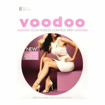Womens Voodoo Glow Toeless Brief Open Toe Pantyhose Stockings Size Avg Tall X