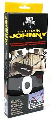 White Lightning Chain Johnny Drivetrain Cover for Road and Mountain Bikes