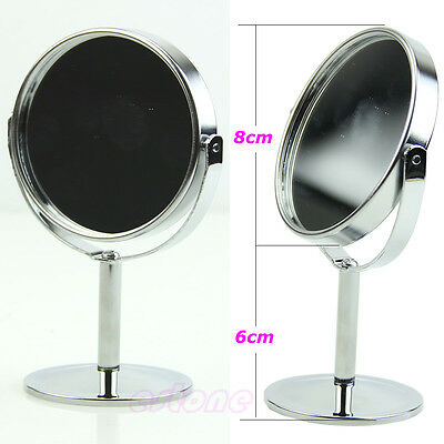 Showing Up Makeup Cosmetic Mirror Double-Sided Stand Mirror Circular Girl Gift