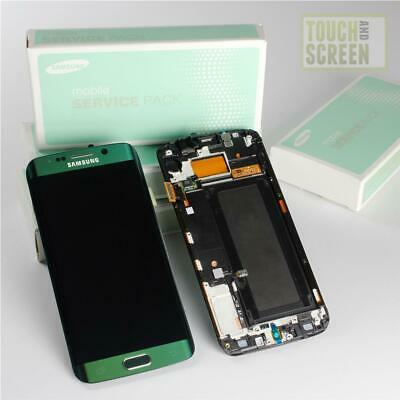 100% Original Samsung Galaxy S6 Edge SM-G925F Display Screen komplett grün green