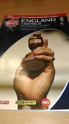 England v Australia- Fifth Ashes Test- 20/ 24th August 2009- Programme