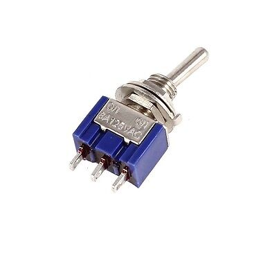 10PCS Mini 6A 125VAC SPDT MTS-102 3 Pin 2 Position On-on Toggle Switches Practic