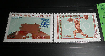 "South Korea 1960 ""olympics"" Mnh** Set (Cat.9)"