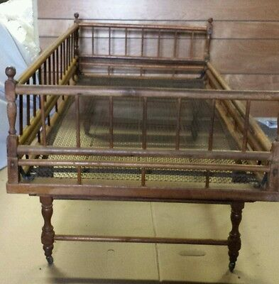 Truly Unique Antique Fold-up Convertible Child Bed ca1885 Very Good Condition.