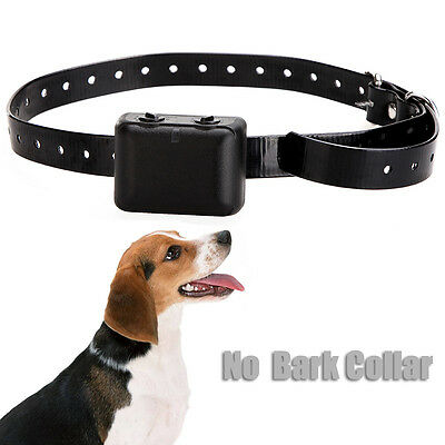 Waterproof Dog Anti Bark No Barking Collar Trainer Shock Vibrate Rechargeable