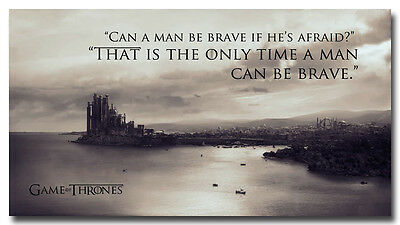 """Game Of Thrones King's Landing Motivational Quotes Silk Poster 13x24"""""""