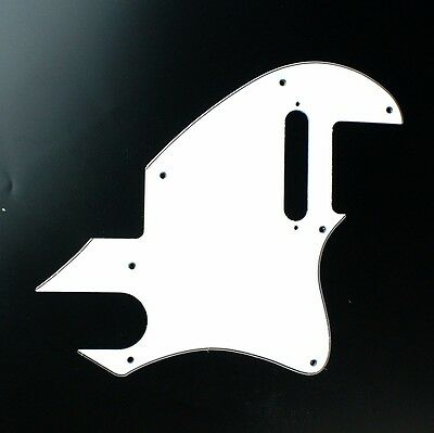 Custom Guitar Pickguard for Tele F Hole Convertion ,3ply white