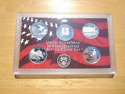 2008 S SILVER Proof State Quarter Set   No Box or Coa   Nice Coins