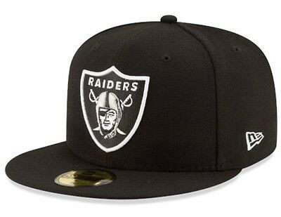 New Era 5950 OAKLAND RAIDERS Team Cap NFL Fitted Hat 59Fifty On Field