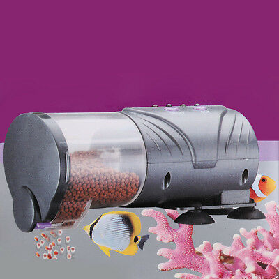 Automatic Fish Feeder Aquarium Tank Auto Food Timer Dispenser Adjustable Outlet