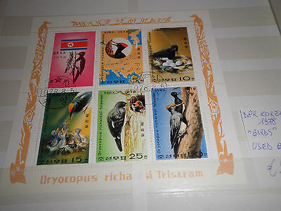 "Dpr Korea 1978 ""birds"" Used Block (Cat,1)"