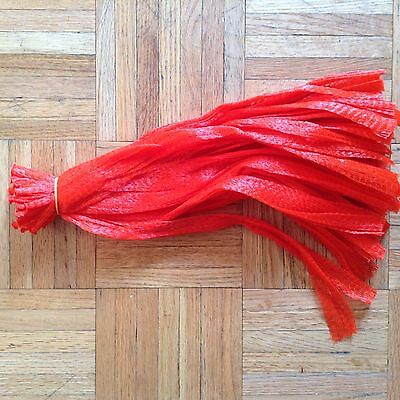 """15"""" RED 100 reusable nylon poly mesh net bags for Produce Fruit Vegetable Nuts"""