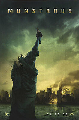 Cloverfield Advance Single Sided Original Movie Poster 27x40 inches