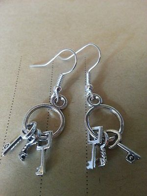 Mini Skeleton Keys Earrings Good Luck Hecate Legba
