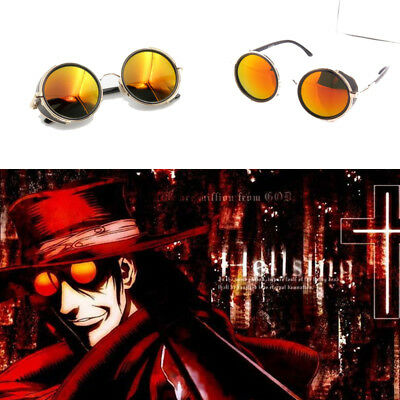 Anime Hellsing Alucard Vampire Hunter Orange Sunglasses Cosplay Props Fashion