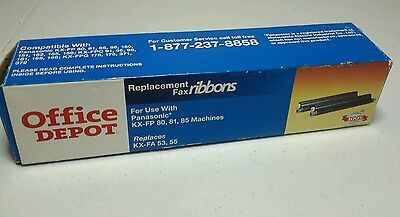 Panasonic Compatible Fax Ink Ribbons for KX-FA55 by Office Depot KX-FP80/81/85