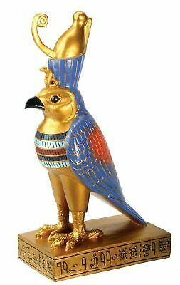 "Ancient Egyptian Decor Falcon Horus Figurine 8.75"" Height Deity Egypt Legend"