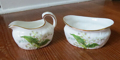 Beautiful Hammersley Lily Of The Valley Creamer & Sugar - England