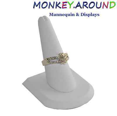 """1 White Finger Ring Displays Stand 2"""" x 2"""" x 2"""" Showcase Jewelry Table Windows"""
