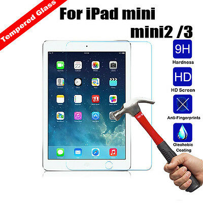 Tempered Glass Screen Protector Film For Apple iPad Mini 1 2 3 iPhone 4 5 6 7