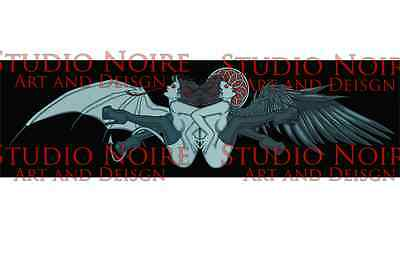 Angel and Demon Lowbrow Pinup Rockabilly Sexy Art Print