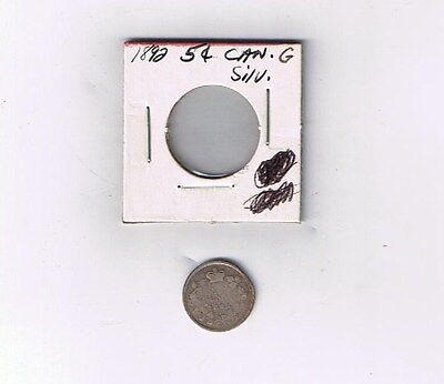 Canada1892  5 Cents Silver G -