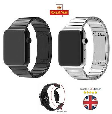 Stainless Steel Watch Band Link Bracelet Strap for Apple Watch iWatch 42mm
