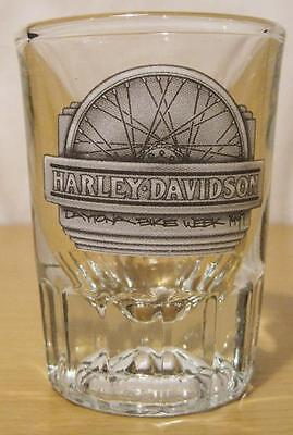 Harley Davidson Motorcycles Large Heavy Shot Glass