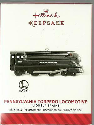 Hallmark Ornament Pennsylvania Torpedo Locomotive Lionel Train 2014 New