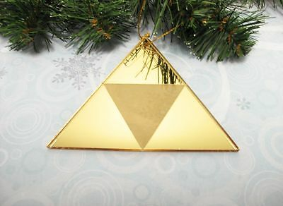 Golden Triangle Christmas Tree Ornament, inspired by Zelda Triforce
