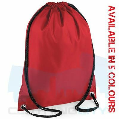 Plain Red Drawstring P.e School Shoe Nursery Bag Swimming Dance Sport Waterproof