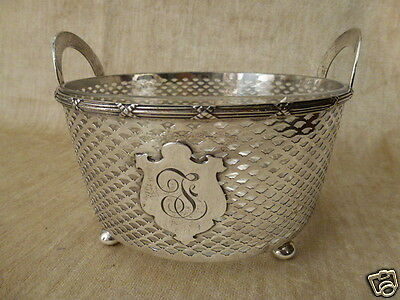 """Sterling 6-3/8"""" glass lined serving bowl by Meriden Brittania Co. Connecticut"""